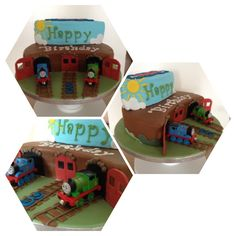 Thomas and the tank engine cake