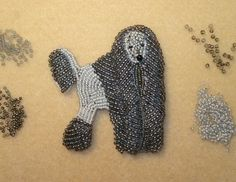 beaded poodle