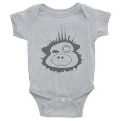 Cool Grey FunkyMunky - Infant short sleeve one-piece