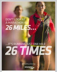 Marathon 26 times.