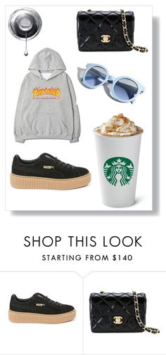 """""""crysisayyes"""" by crystelpi on Polyvore featuring mode, Puma, Chanel et Pinko"""