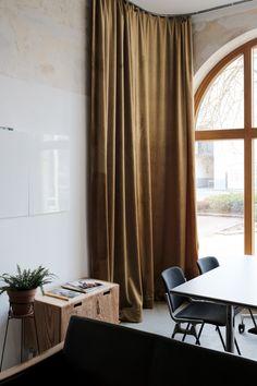 Home - Quartier Studio Linz Velvet Curtains, Window Curtains, Studio, Designer, Windows, Living Room, Home Decor, Linz, Decoration Home