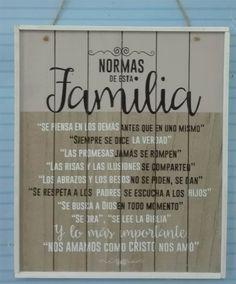 Normas de esta familia: #Cuadro madera #vintage bicolor #Biblia