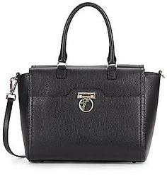 936909d9ab Save on the Versace Collection Pebbled Leather Black Satchel! This satchel  is a top 10 member favorite on Tradesy.