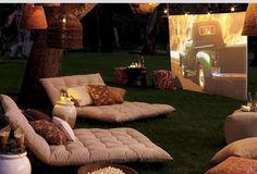 Backyard movie idea.
