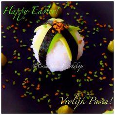 Happy Easter! Vrolijk Pasen!😀 www.crea-sushiworkshops.nl #happyeaster #vrolijkpasen #pasen #sushi #avocado #veganfood #sesamzaadjes #wasabi #uitje #sushiworkshop #workshop #teambuilding #event #events #teamuitje #bedrijfsuitje #sushimaken #fitfood #gezondeten #healthyfood #haarlemmermeer #hoofddorp #creasushiworkshops#love
