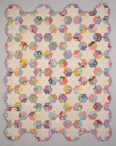 Tumbling block quilt - 30's Reproduction Fabrics
