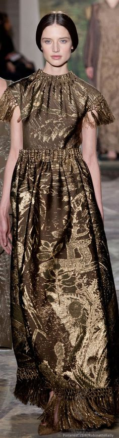 Valentino Haute Couture   S/S 2014  How NOT to make a dress out of curtains.