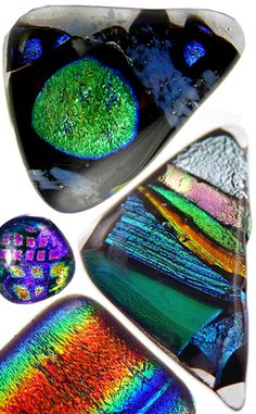 Dichroic glass [dahy-kroh-ik] is glass containing multiple micro-layers of metal oxides which alter its optical properties. The invention of dichroic glass is often erroneously attributed to NASA and its contractors, who developed it for use in dichroic filters. Dichroic glass dates back to at least the 4th century CE as seen in the Lycurgus cup, a Roman relic.
