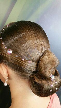 Dance hairstyle Dance Hairstyles, Sport Hairstyles, Dance Competition Hair, Ballroom Dance Hair, Faded Hair, Fade Haircut, Hair Designs, Hair Makeup, Hair Cuts