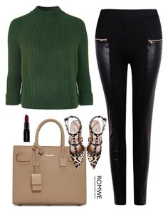 """""""Romwe pants"""" by mirnela66 ❤ liked on Polyvore featuring Yves Saint Laurent, Topshop, Valentino, Smashbox, women's clothing, women, female, woman, misses and juniors"""