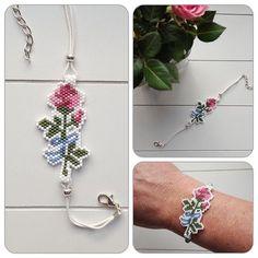 Naast tulpen is de roos een van mijn favoriete bloemen #kralen #beads #kralenwerk #beadwork #beadweaving #brickstitch #peyotestitch #roos #rose #armband #bracelet #beadedjewelry #forsale #inmyshop #crafting #craft #craftastherapy #miyuki #miyukibeads #miyukidelica #handmade
