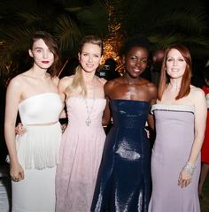Rooney Mara, Naomi Watts, Lupita Nyong'o and Julianne Moore attend the IFP, Calvin Klein Collection and euphoria Calvin Klein event in Cannes, France, on May 15, 2014.Like us on Facebook?