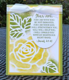Krystal's Cards: Stampin' Up! Rose Wonder Isaiah 41 #stampinup #krystals_cards #rosewonder