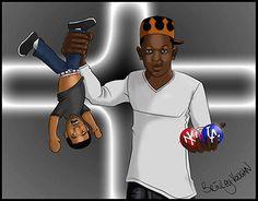 "Kendrick Lamar vs Drake on my @Behance portfolio: ""Rap Battles"" http://be.net/gallery/43194781/Rap-Battles"