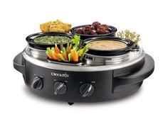 CROCK-POT Triple Dipper with Lazy Susan Food Warmer,  #SCRTD300-BS = $60  @ http://www.walmart.com/ip/17219367?wmlspartner=wlpa=22222222227000983956==g=c=30062944390==pla=34452544630=sem = $56 @ http://www.overstock.com/Home-Garden/Crock-Pot-Stainless-Steel-1-quart-Triple-Dipper-Food-Warmer/7684118/product.html?TRACK=DSPTA=221848