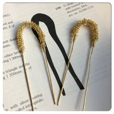 Hair pins based on a find from Finsbury Circus that has been dated to the 14th century. It has probably been used to fasten hair or a headdress. It is described in Egan and Pritchard's Dress Accessories (one of the Museum of London books)