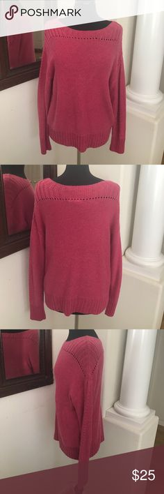 Boatneck Sweater Rose colored sweater is great for Fall and Winter. Only worn once. 40% Rayon, 30% Polyester, 23% Nylon, 7% Alpaca GAP Sweaters Crew & Scoop Necks