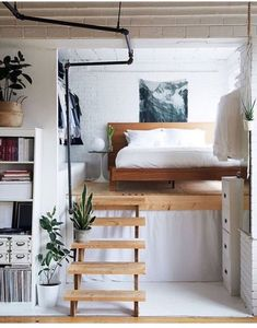 Use that loft space for a cozy bed