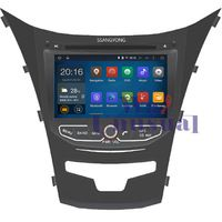 HD 1024*600 Quad Core 16G 8'' Pure Android 4.4.4 Car DVD Player for SSANGYONG KORANDO 2013-GPS Navigation Newest Free Shipping