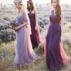 Pastel Purple Bridesmaid Dresses