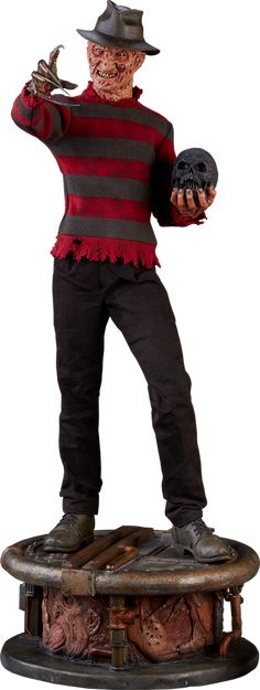 A Nightmare on Elm Street Freddy Krueger Premium Format(TM) Horror Merch, Horror Films, Horror Stories, Freddy Krueger, Mortal Kombat, Ceramic Monsters, Marvel, Sideshow Collectibles, Nightmare On Elm Street