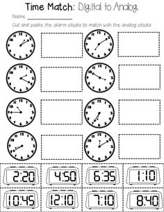 Clock Wise: A CCSS Aligned grade math resources for teaching ALL about time! Includes standards, vocabulary, centers, and no-prep printables. English Worksheets For Kids, 1st Grade Worksheets, School Worksheets, Printable Worksheets, Kindergarten Worksheets, Framed Words, Math Graphic Organizers, Classroom Tools, Math Word Problems