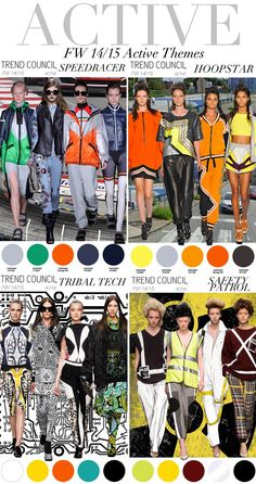 TREND COUNCIL- F/W 2014 ACTIVE THEMES