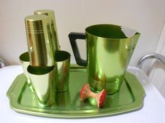 Atomic Ranch Aluminum Barware
