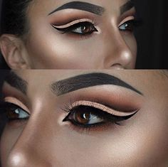 Dark Glamor - Cut Crease Eyeshadow Techniques That Are All Kinds of Chic - Photos