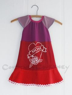 mother's day and every day!  #courtneycourtney #eco #upcycled #recycled #repurposed #tshirt #vintage #dress #girls #unique #clothing #ooak #designer #upscale  #fashion #mom #red