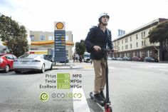 A Tesla has 95 MPGe. EcoReco M3, a 2,000 MPGe personal electric vehicle for your everyday urban use. See why on http://ecorecoscooter.com/why/