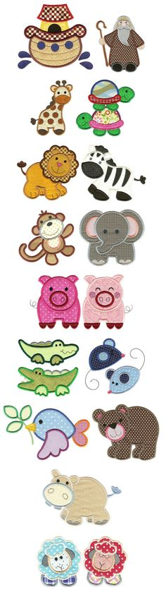 Noah's Ark Applique machine embroidery designs by Designs by JuJu