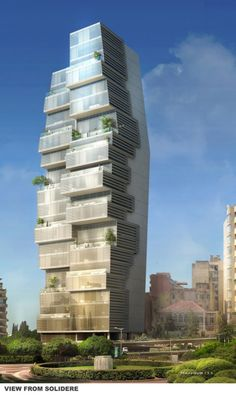 rendering Beirut Residential Building / ACCENT DESIGN GROUP
