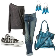Blue casual outfit