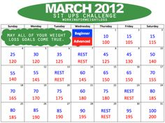 Sit up Challenge, starting today(5/2/13)!!