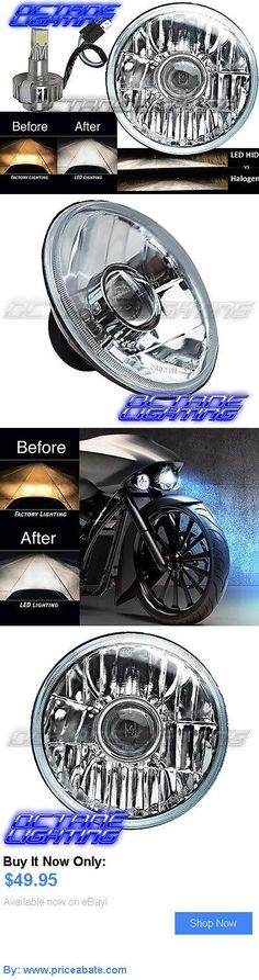 motorcycle parts: 7 H4 Cree Smd 360° Led Light Bulb Crystal Projector Headlight Harley Motorcycle BUY IT NOW ONLY: $49.95 #priceabatemotorcycleparts OR #priceabate