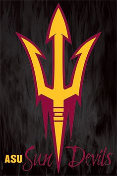 Arizona State Sun Devils Official NCAA Team Logo Poster - Costacos Sports | #ASU #eatingpsych #bettycapaldiphillips eatingpsych.com