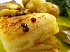 Baked Codfish – Bacalhau Assado no Forno Cod Fillet Recipes, Cod Recipes, Clean Recipes, Fish Recipes, Seafood Recipes, Cooking Recipes, Fish Dishes, Seafood Dishes, Bacalhau Recipes