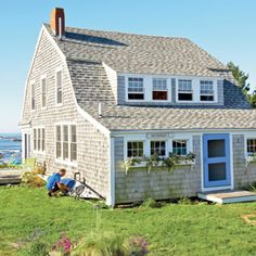 A New England Beach Cottage....How many of you wish you could own one?