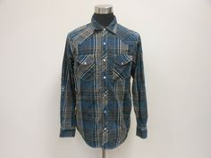 Mens Supply Company USA Long Sleeve Western SNAP Up Collared Shirt sz L Large #SupplyCompany #ButtonFront #tcpkickz