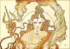 The Indian God Shiva painted in painter Any questions just ask, this is the colorization of the design of my Shiva tattoo Shiva Mahakal Shiva, Shiva Art, Hindu Art, Yang Yi, Guru Purnima, Indian Arts And Crafts, Shiva Tattoo, Lord Shiva Painting, Shiva Wallpaper