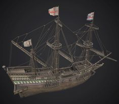 Ship Golden Hind 1577 This is a low-poly model of Ship Golden Hind. I hope you like this model Golden Hind, Model Ship Building, Low Poly Models, Wooden Ship, Model Ships, Tall Ships, Sailing Ships, Folk, Artwork