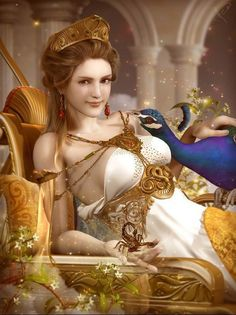 Hera Hera was daughter of Cronus and Rhea . Greek queen of the gods and sister-wife of Zeus . Being a daughter of Cronus she, like . Hera Greek Goddess, Greek Gods And Goddesses, Goddess Of Love, Greece Goddess, Fantasy Women, Fantasy Girl, Rome Antique, Greek Mythology Art, Aphrodite