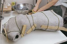 For an exact replica of your body, make a molded papier-mâché dress form.