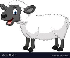 Photo about Illustration of Cartoon happy sheep posing isolated on white background. Illustration of white, farm, isolated - 63679478 Baby Animal Drawings, Art Drawings For Kids, Easy Drawings, Free Vector Graphics, Free Vector Art, Sheep Logo, Farm Animals Preschool, Sheep Illustration, Sheep Cartoon