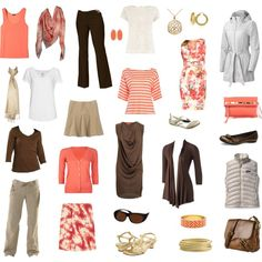 An interesting capsule wardrobe for a spring/summer trip.