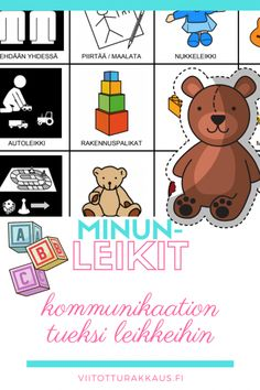 Minun leikit kommunikaatiotaulu - Viitottu Rakkaus Pre School, Problem Solving, Education, Comics, Kids, Crafts, Young Children, Boys, Manualidades