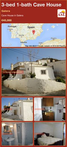 Cave House for Sale in Galera with 3 bedrooms, 1 bathroom - A Spanish Life Cave House, Portugal, Spanish, Construction, Bathroom, Bed, Water, Life, Building