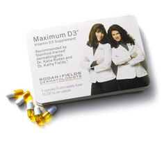 MAXIMUM D3® Vitamin D Supplement   Essential for bone health and overall wellness, our recommended supplement to any Rodan + Fields Multi-Med Therapy regimen.